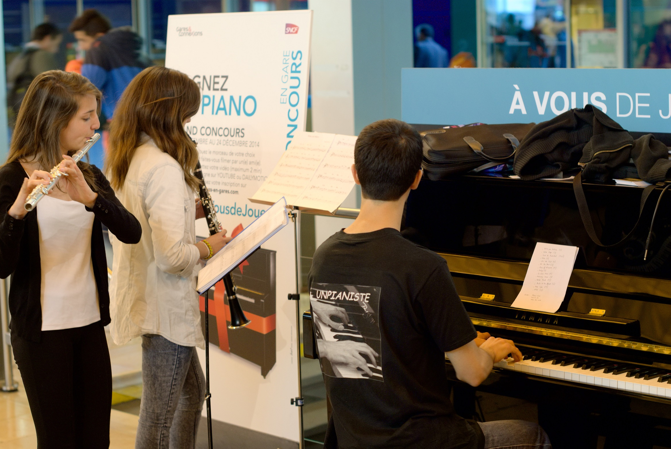 piano flute clarinette concert gare projet musical